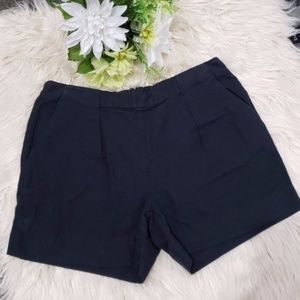 MADEWELL black Linen cotton blend Deck shorts 0